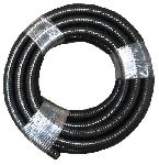 Hose Waste Black Internal Smooth 10M